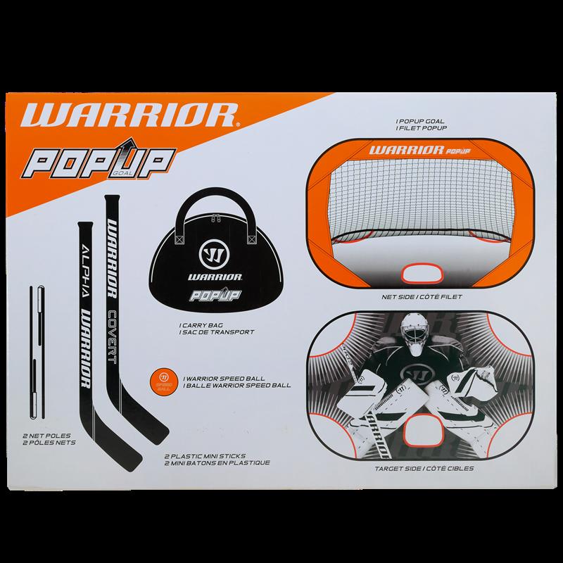 Warrior Sports Mini Pop Up Hockey Net and Sticks Kit MINIPOP8